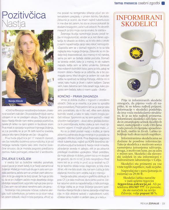 Intervju v reviji Zdravje 2013