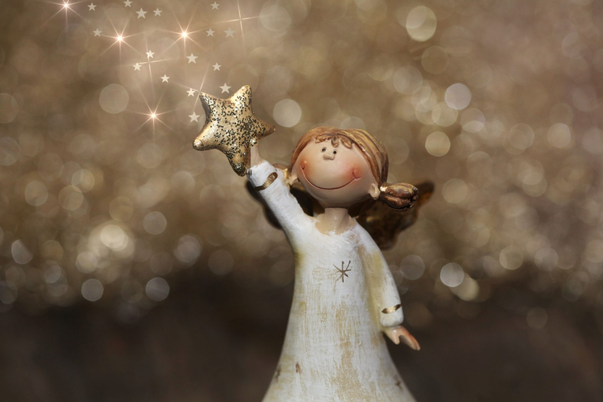 Angel in deklica -zgodba