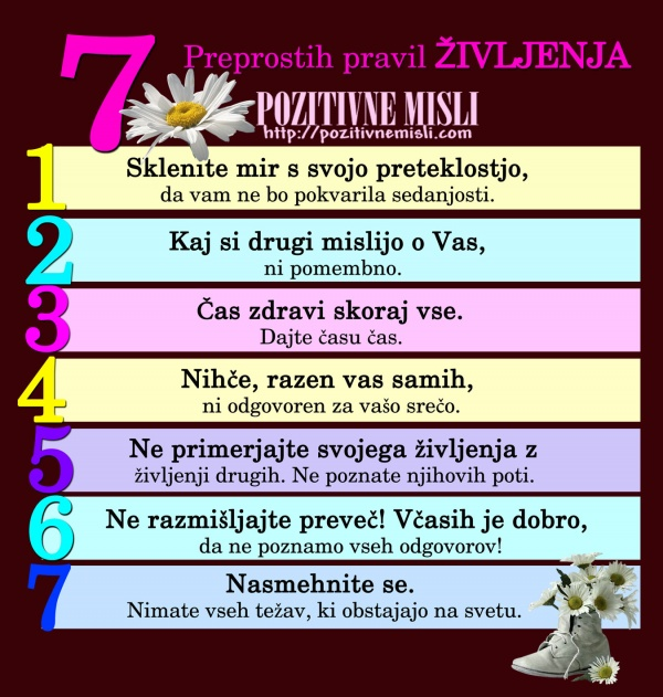 7 preprostih pravil življenja