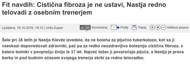 Cistična fibroza je ne ustavi