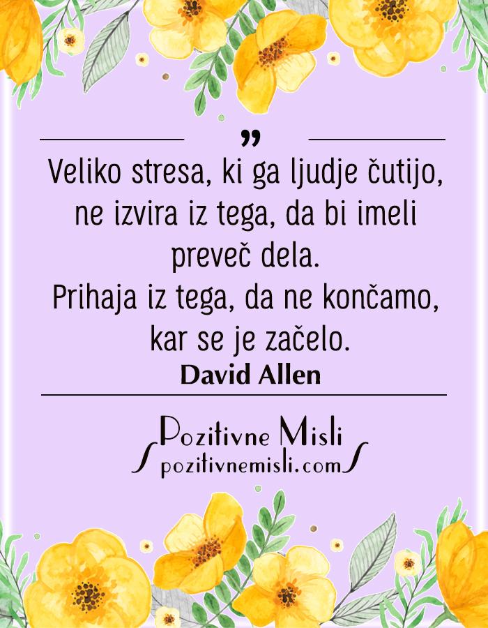Veliko stresa, ki ga ljudje čutimo