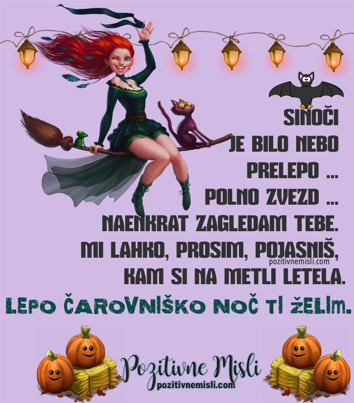Noč čarovnic - zabavne misli in smešni verzi