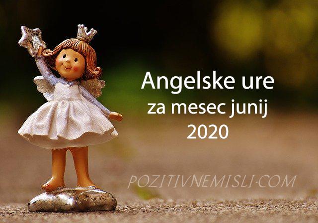 Angelske ure za junij 2020